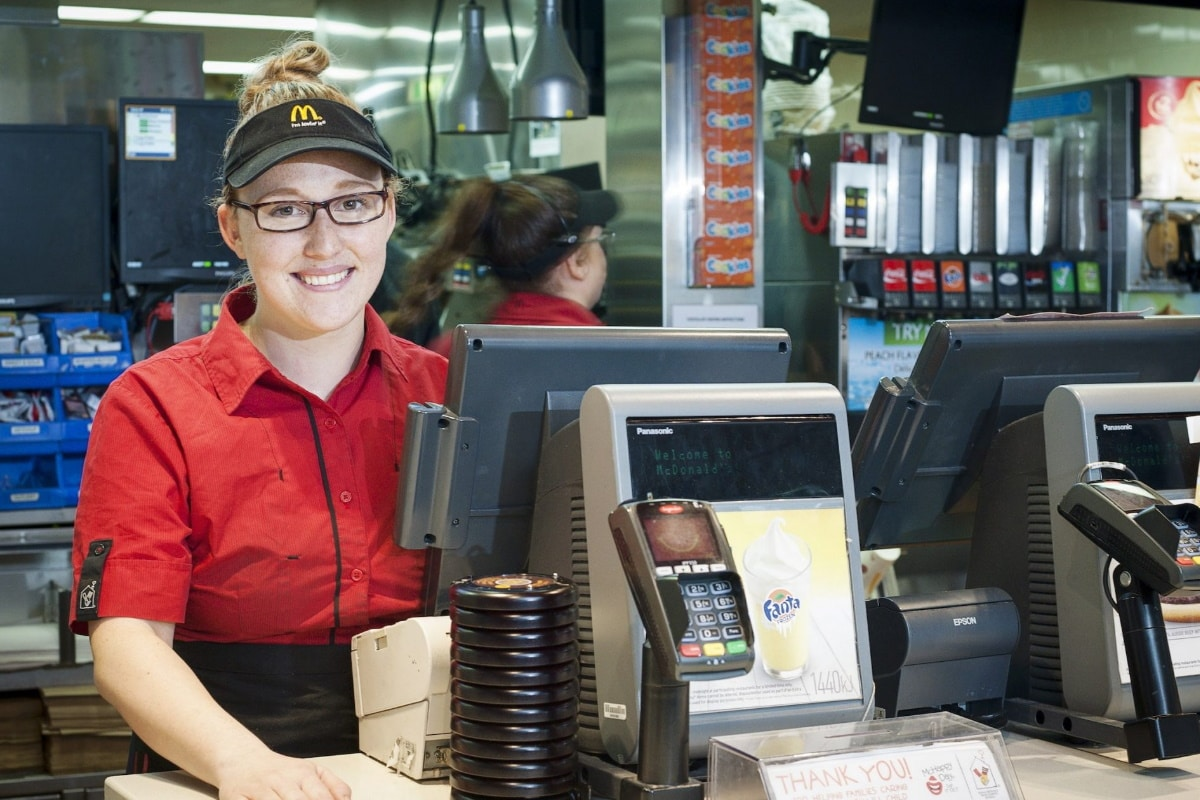 Young worker at Mcdonalds