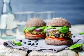 vegan burgers with black bean