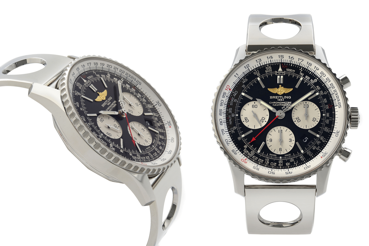 Breitling navitimer 01 steel black dial automatic mens watch ab012012