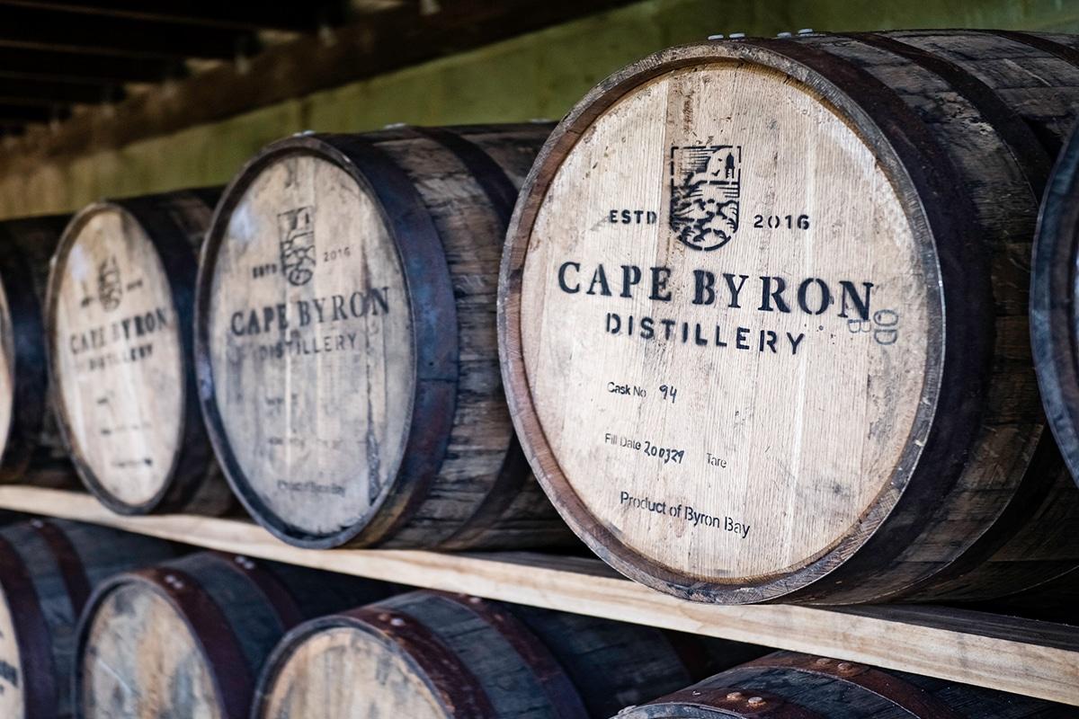 Cape byron whisky barrels