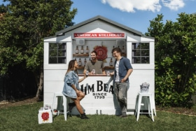 Jim beam backyard bar feature