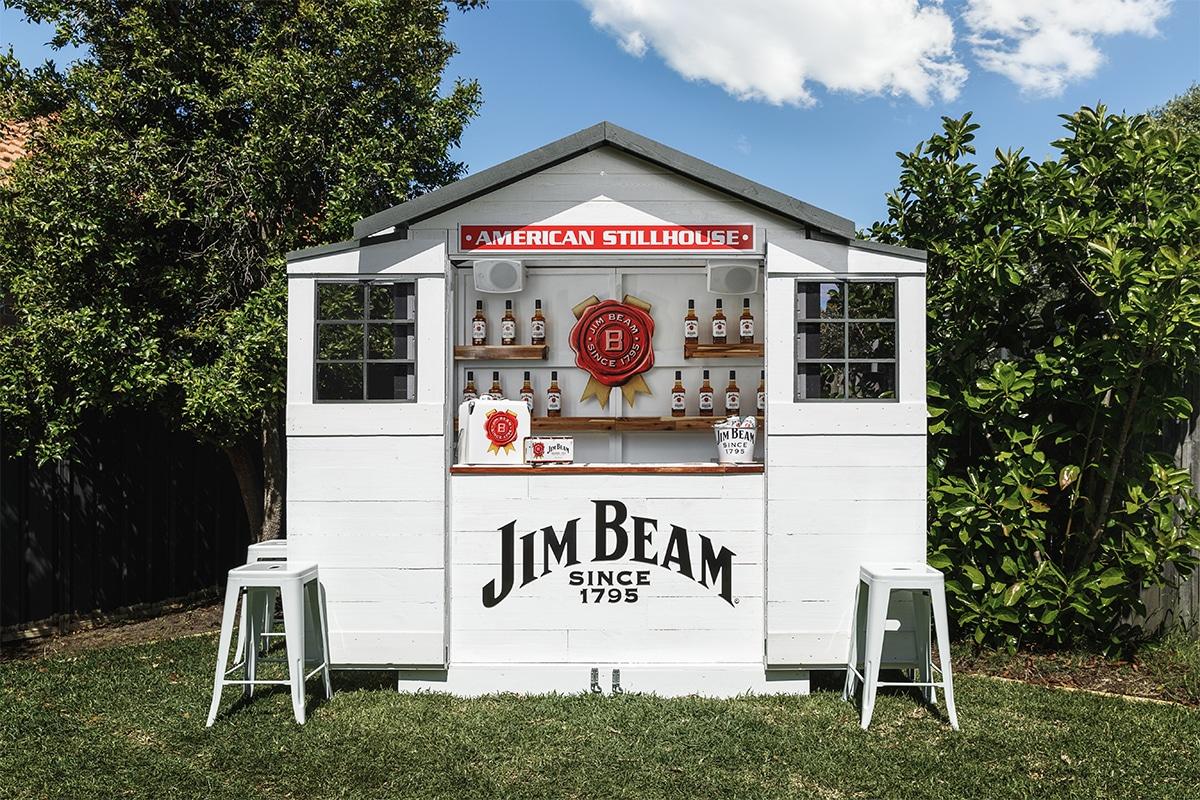 Jim beam backyard bar
