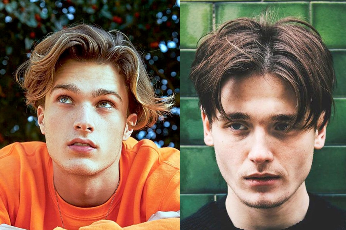 Middle part hairstyles for men 1 1