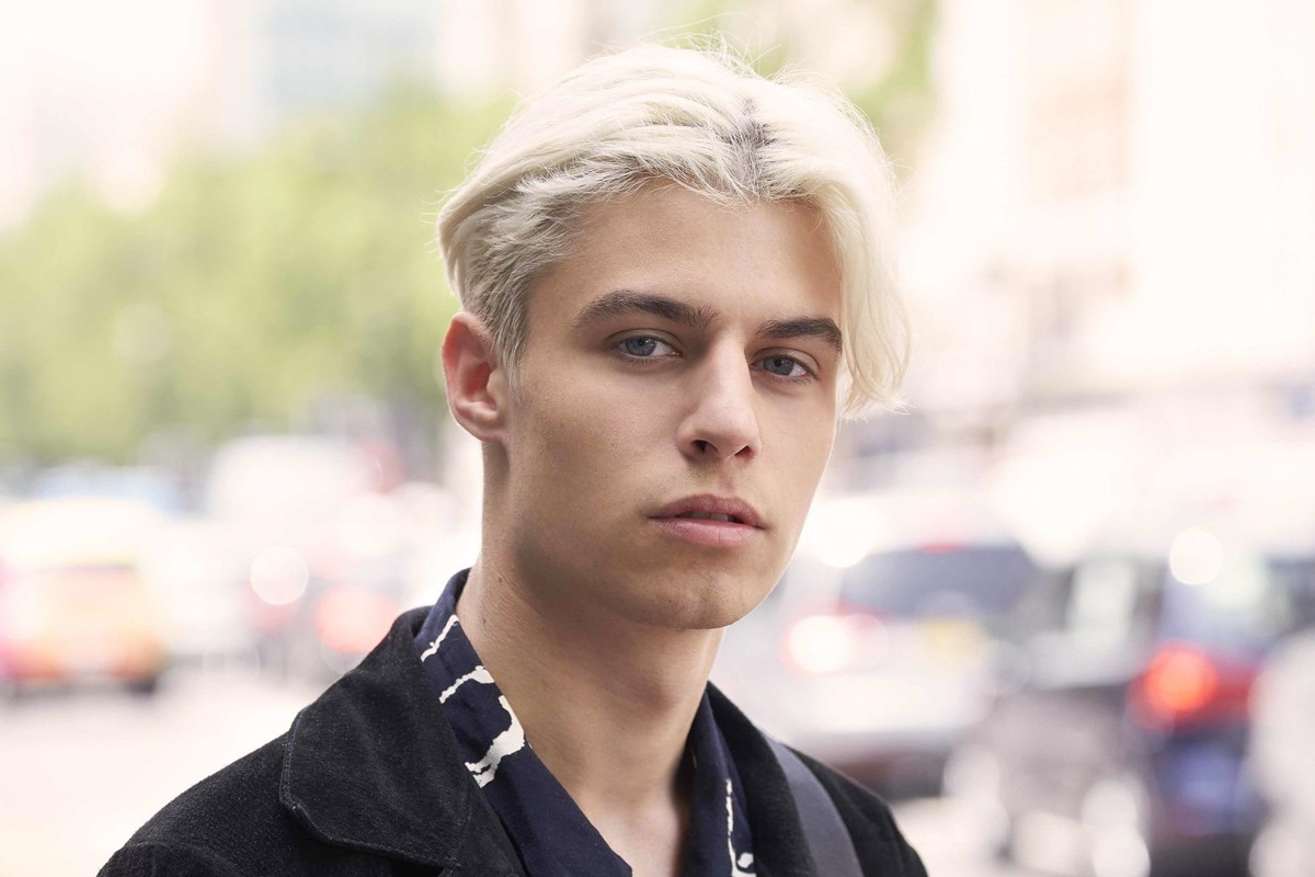 Middle part hairstyles for men 2