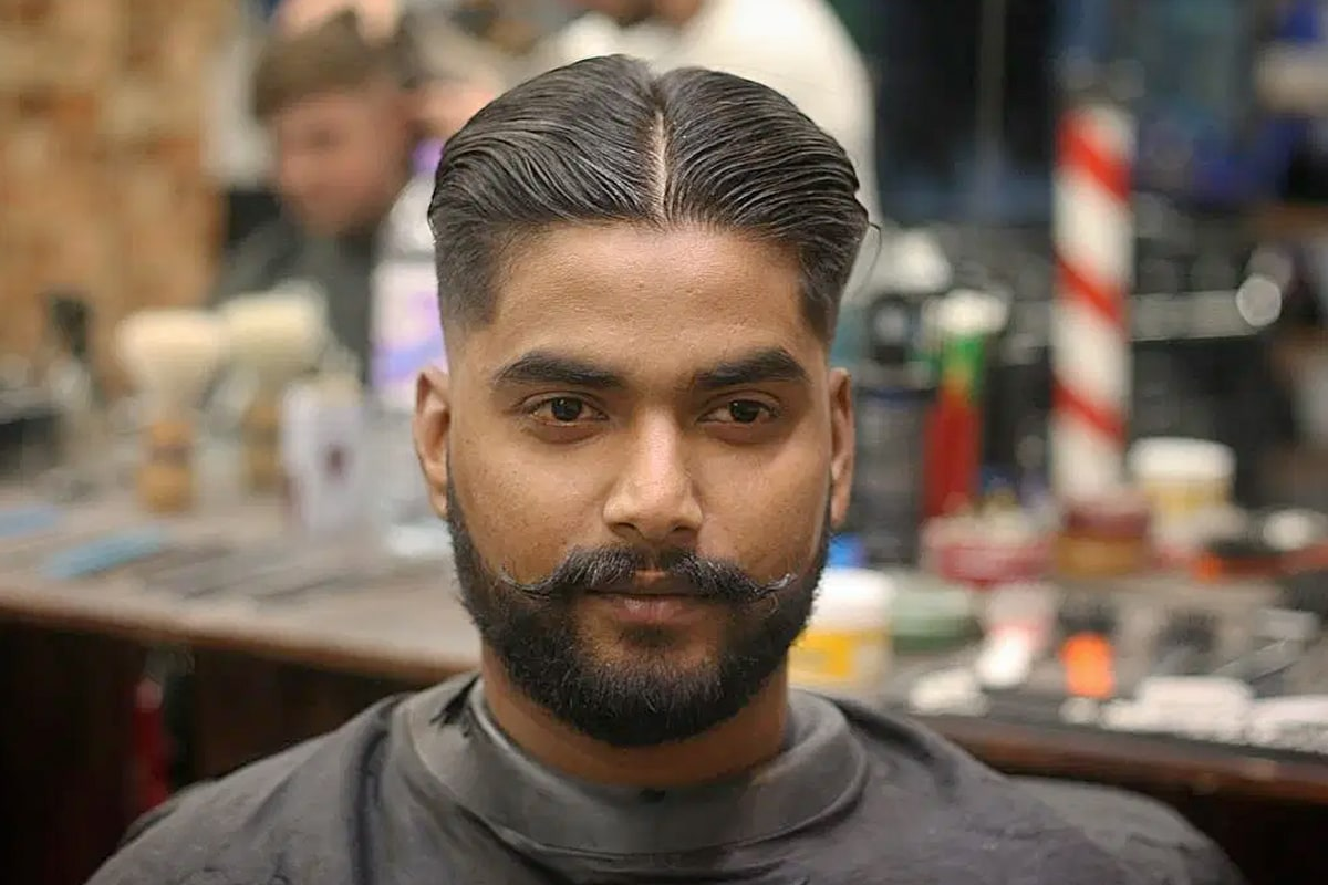 Middle part hairstyles for men 4