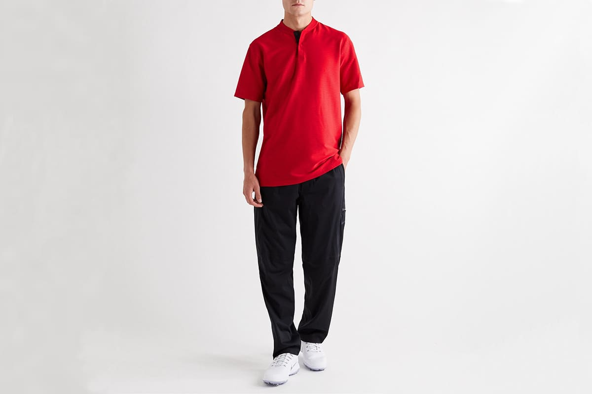 Nike tiger woods ribbed golf polo shirt 2