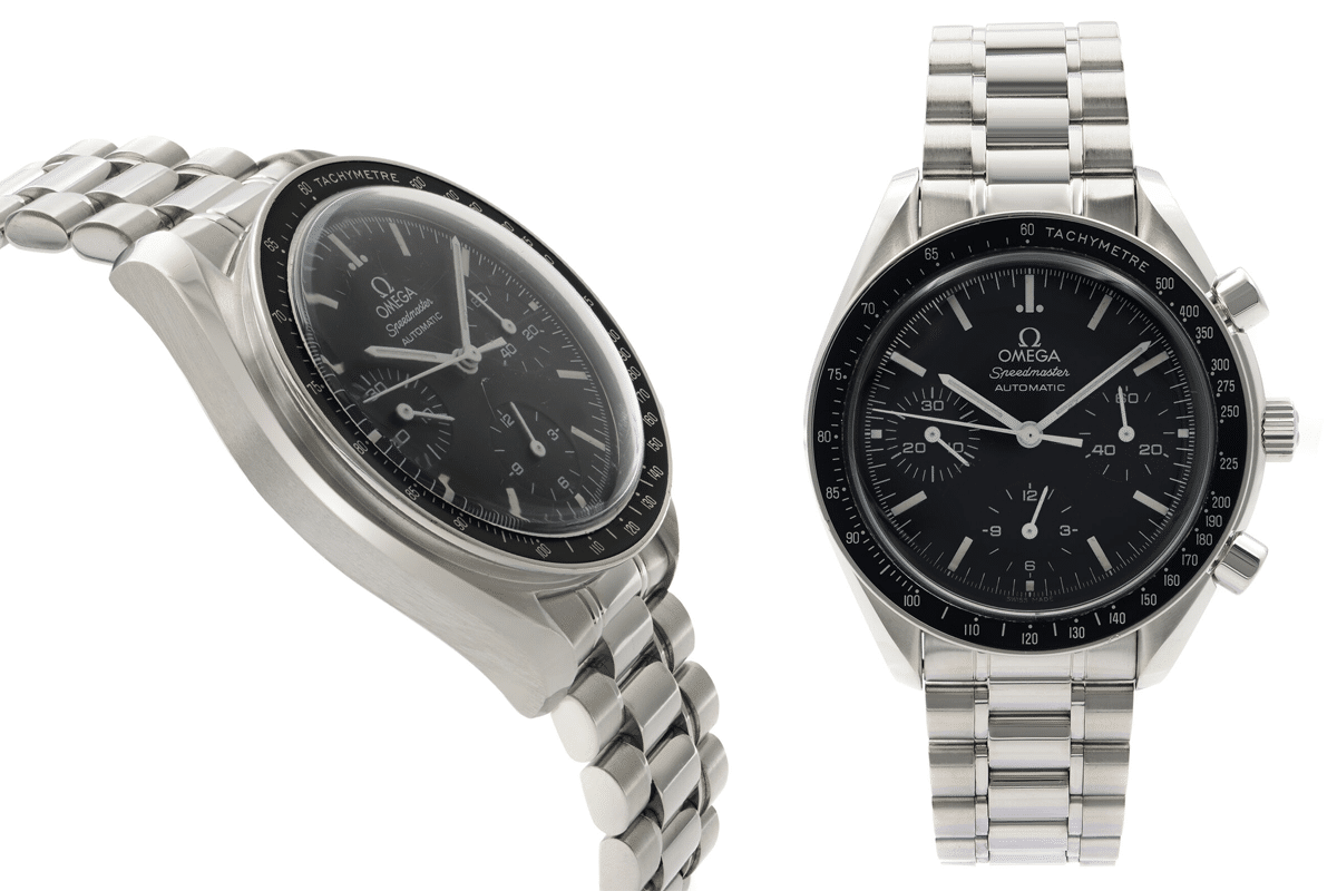 Omega speedmaster reduced 39mm steel black dial automatic watch 3539 50 00