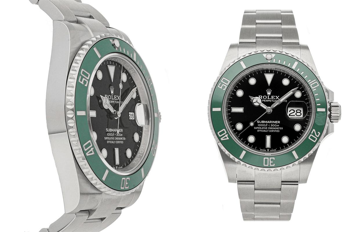 Rolex submariner date kermit auto steel mens oyster bracelet watch 126610lv