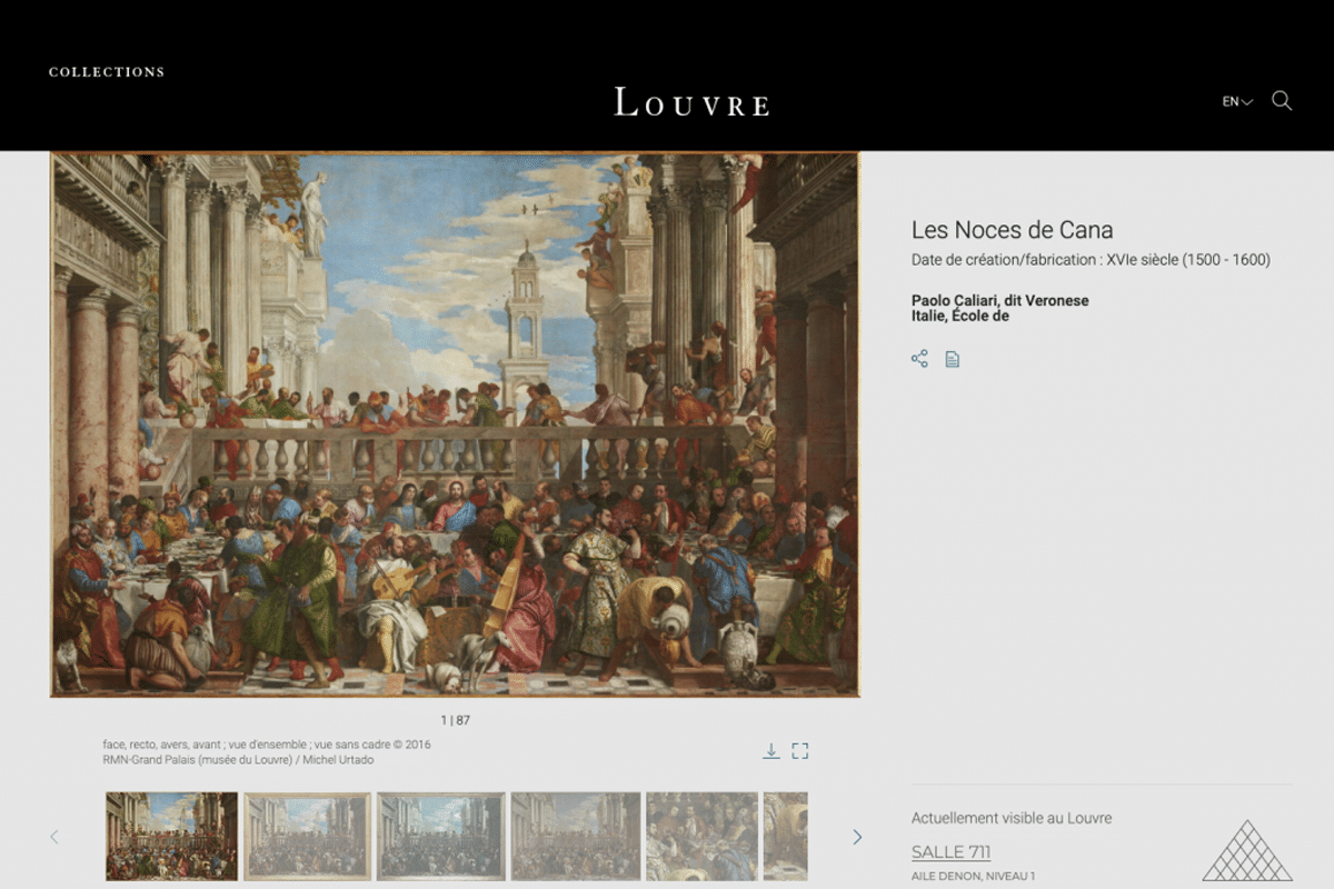 The louvre collection database