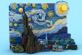 van Gogh's 'Starry Night' 1,552-Piece LEGO Set front