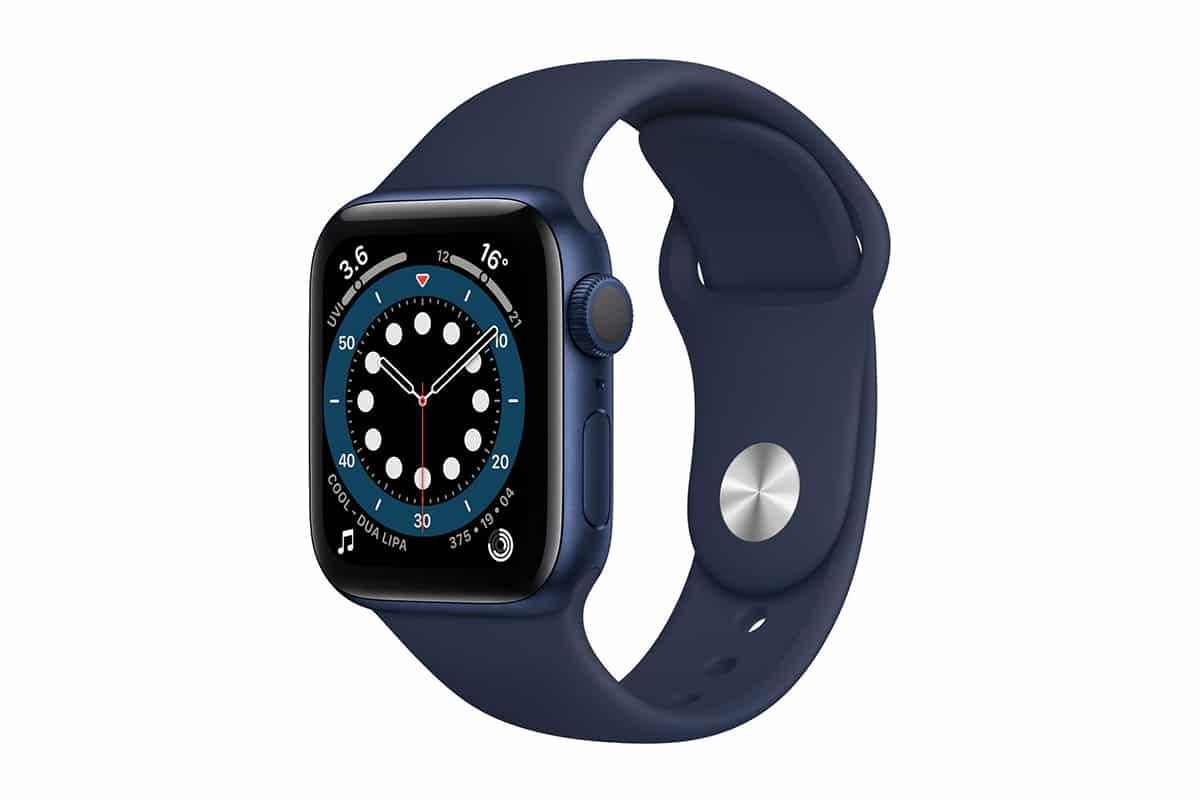 blue apple watch series six