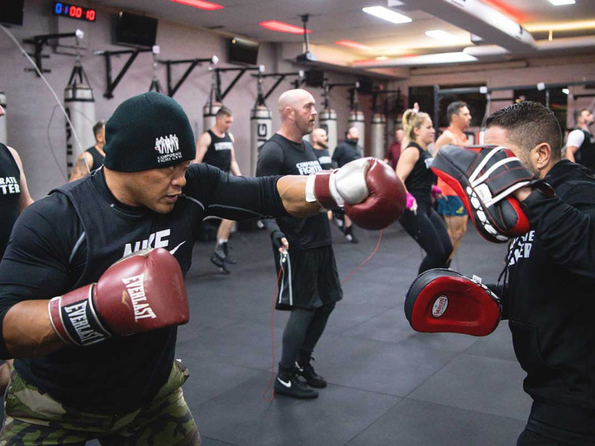 boxing training at corporate fitness centre boxing gym
