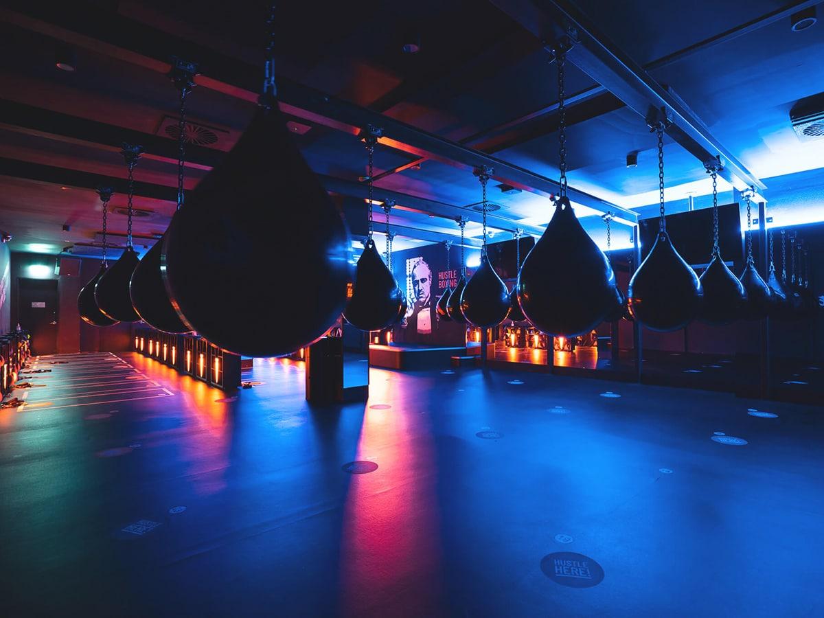 hustle boxing studio potts point interior