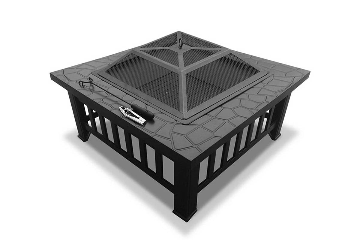 Grillz Fire Pit BBQ Table Grill Outdoor