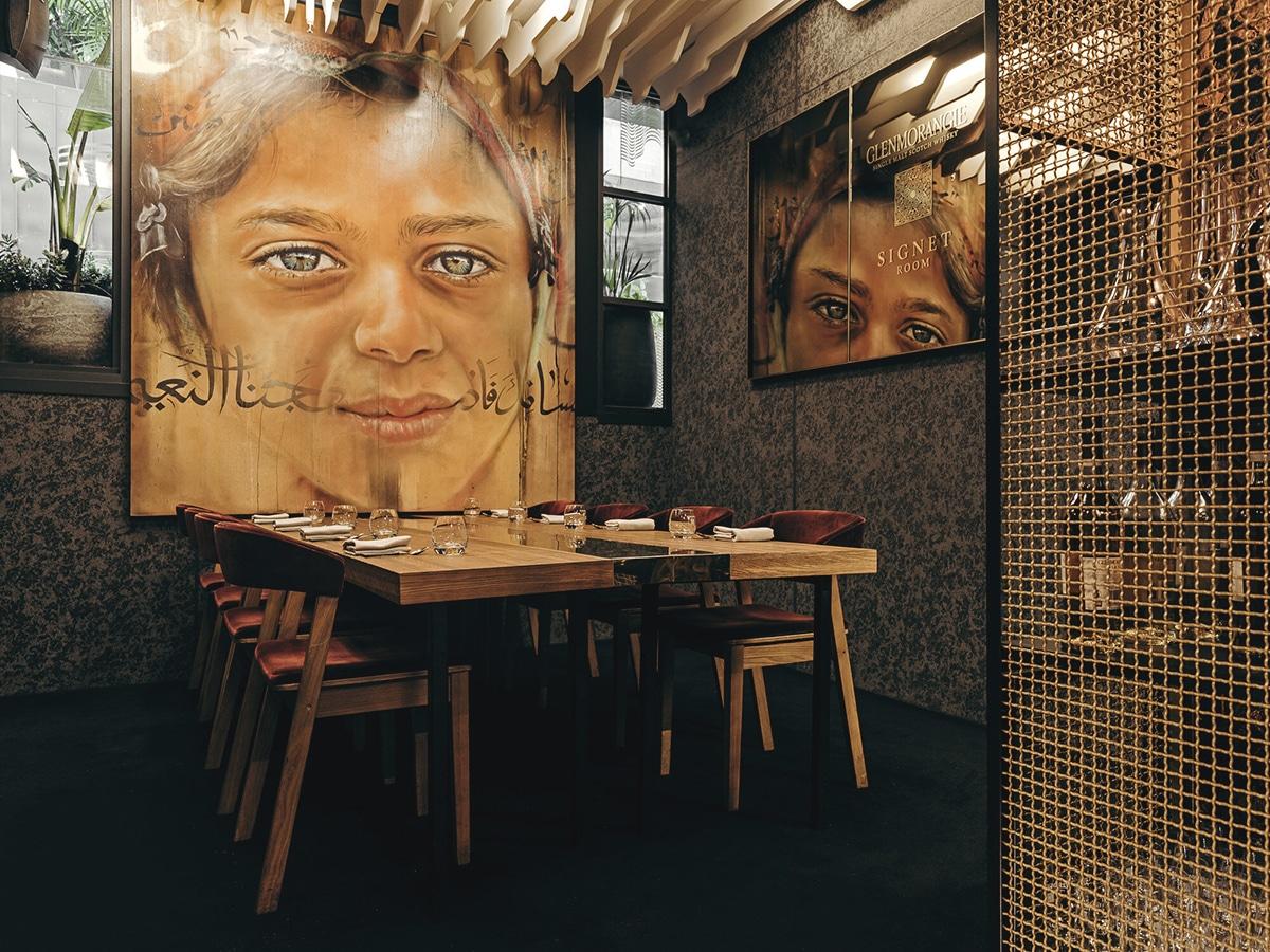 maha restaurant interior