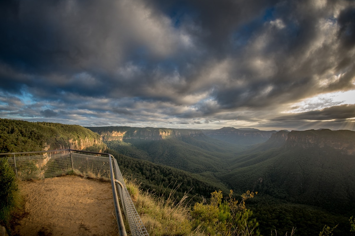 cliff top walking track lookout
