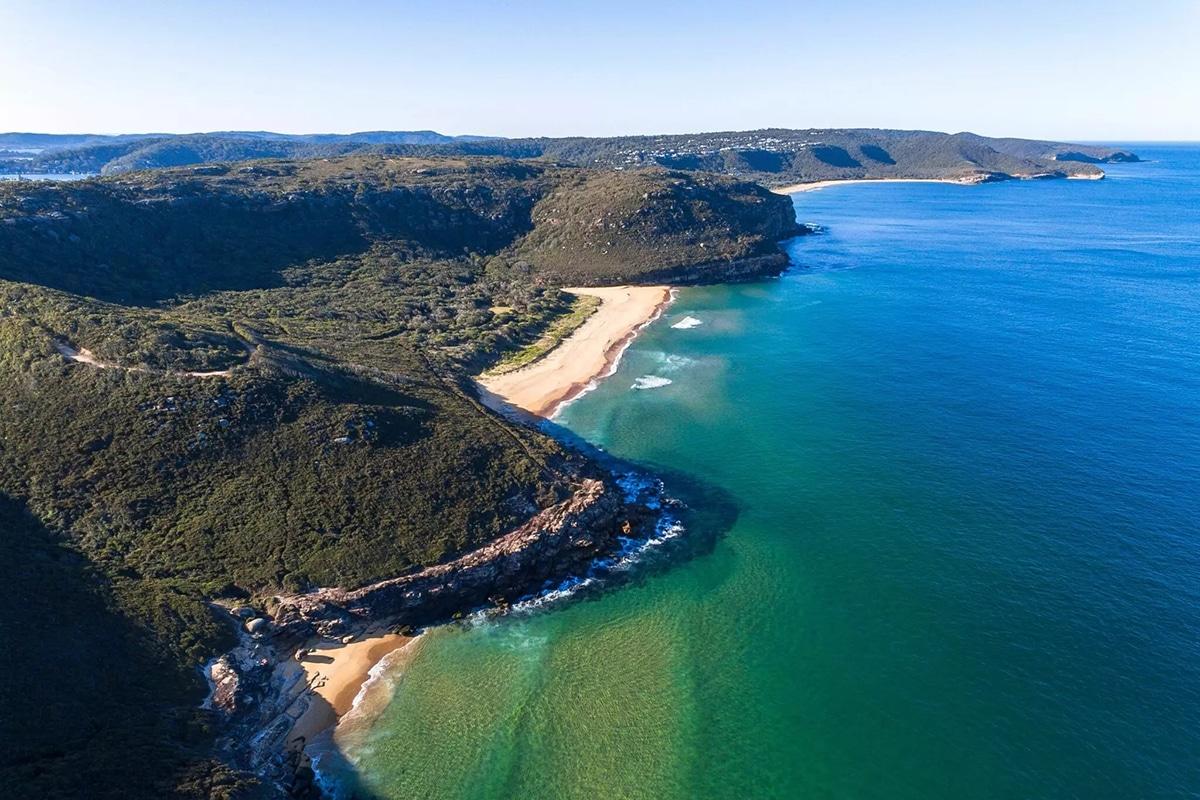 Aerial views of the tallow beach