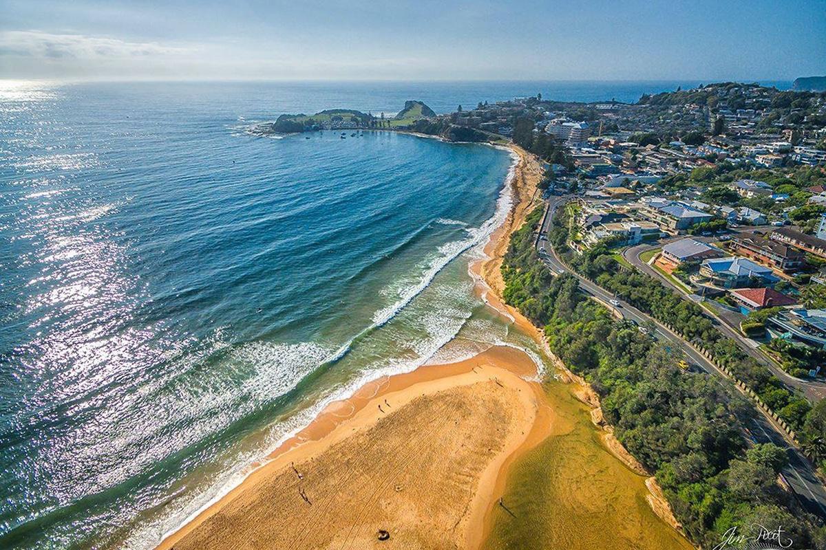 Aerial views of the umina beach