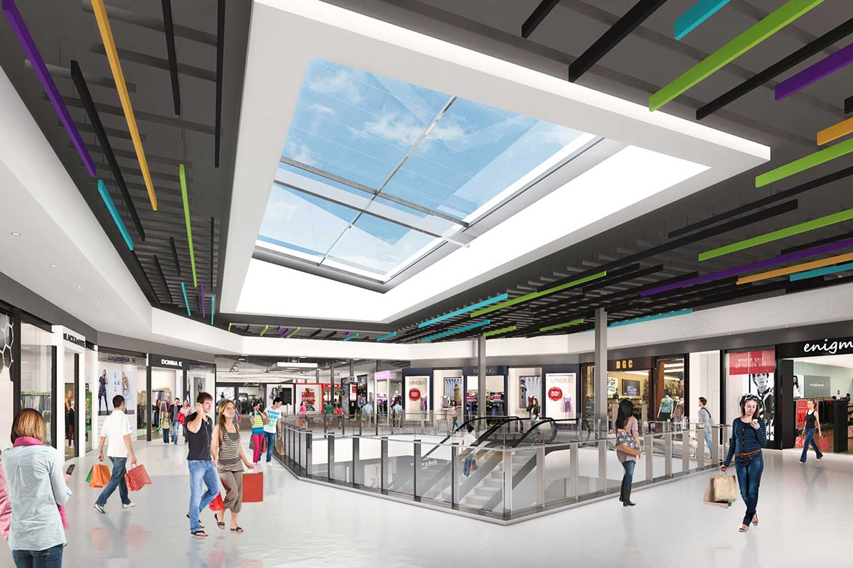DFO Homebush outlet shopping mall interior