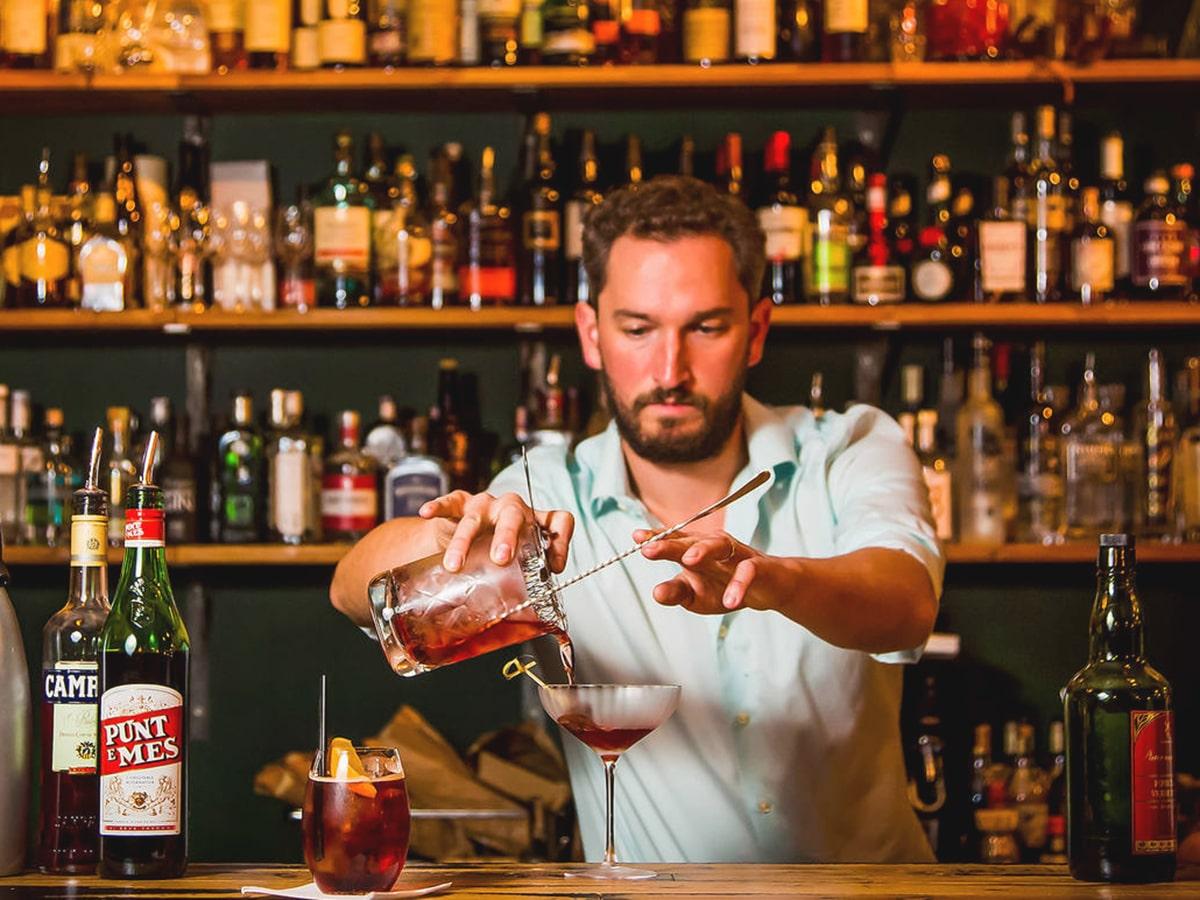 bartender making cocktail at blacksheep bar