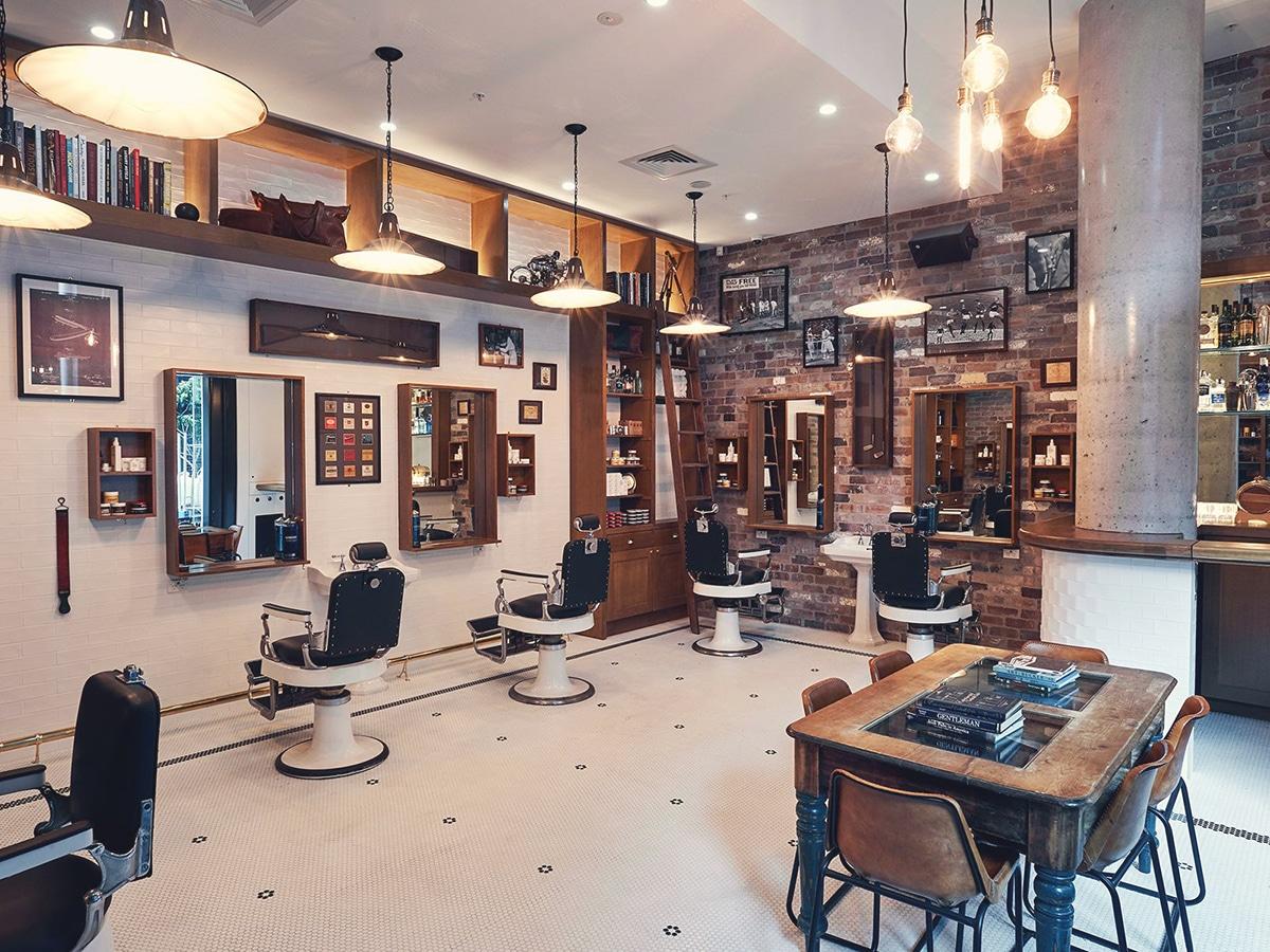 the barber shop bar interior