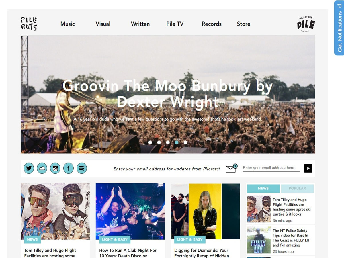 Australian music blogs pilerats