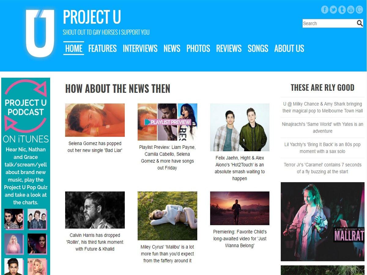 Australian music blogs project u