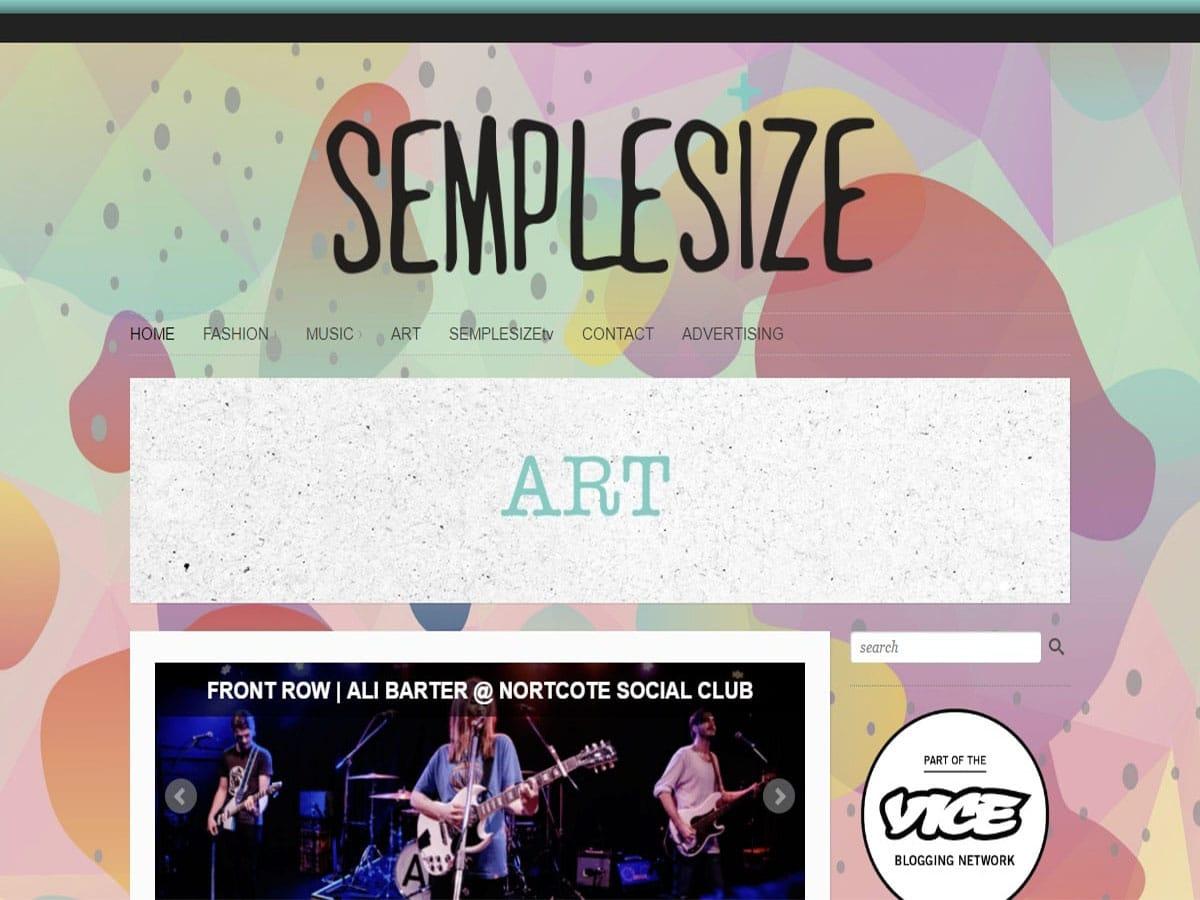 Australian music blogs semple size