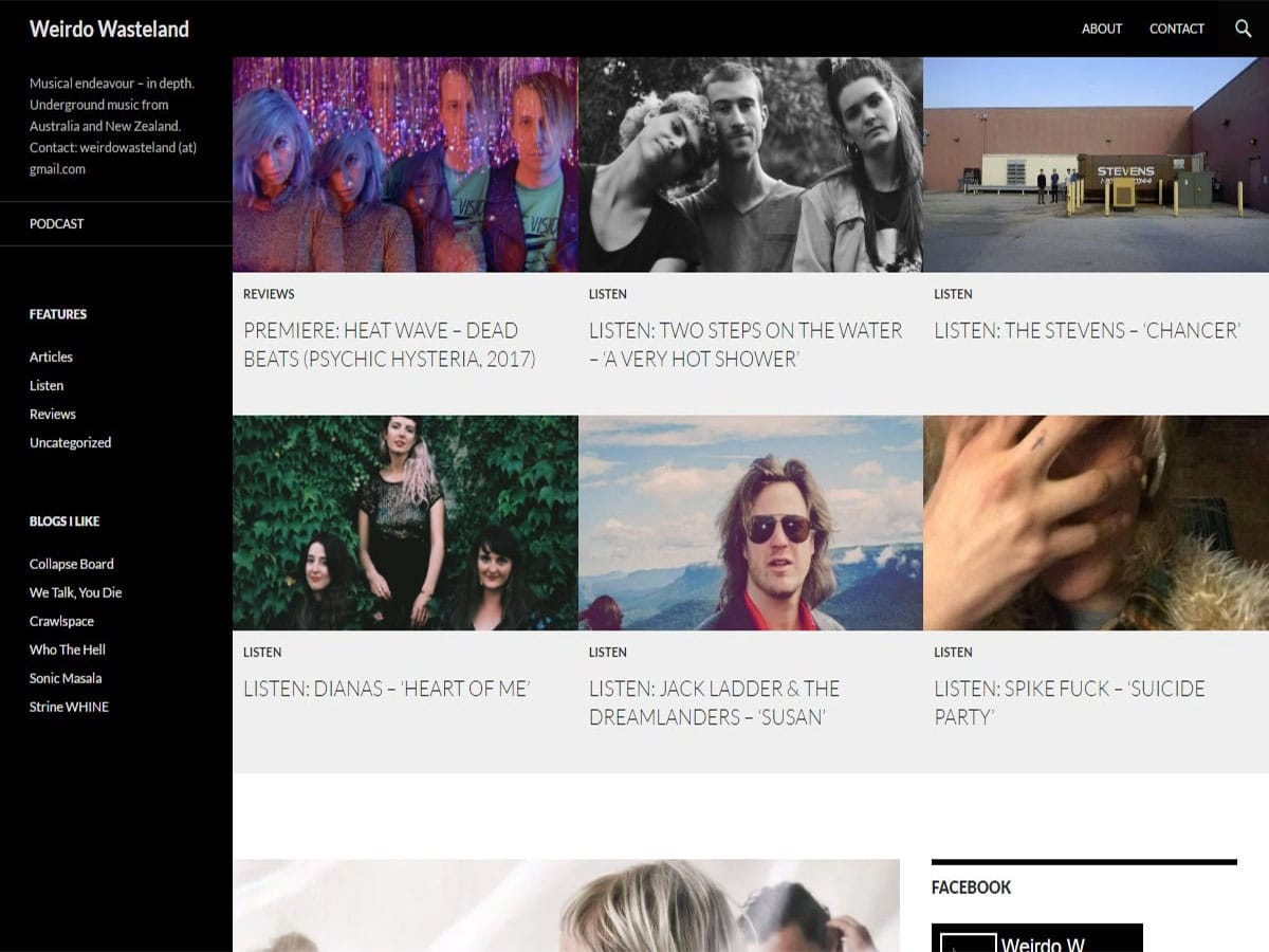 Australian music blogs weirdo wasteland
