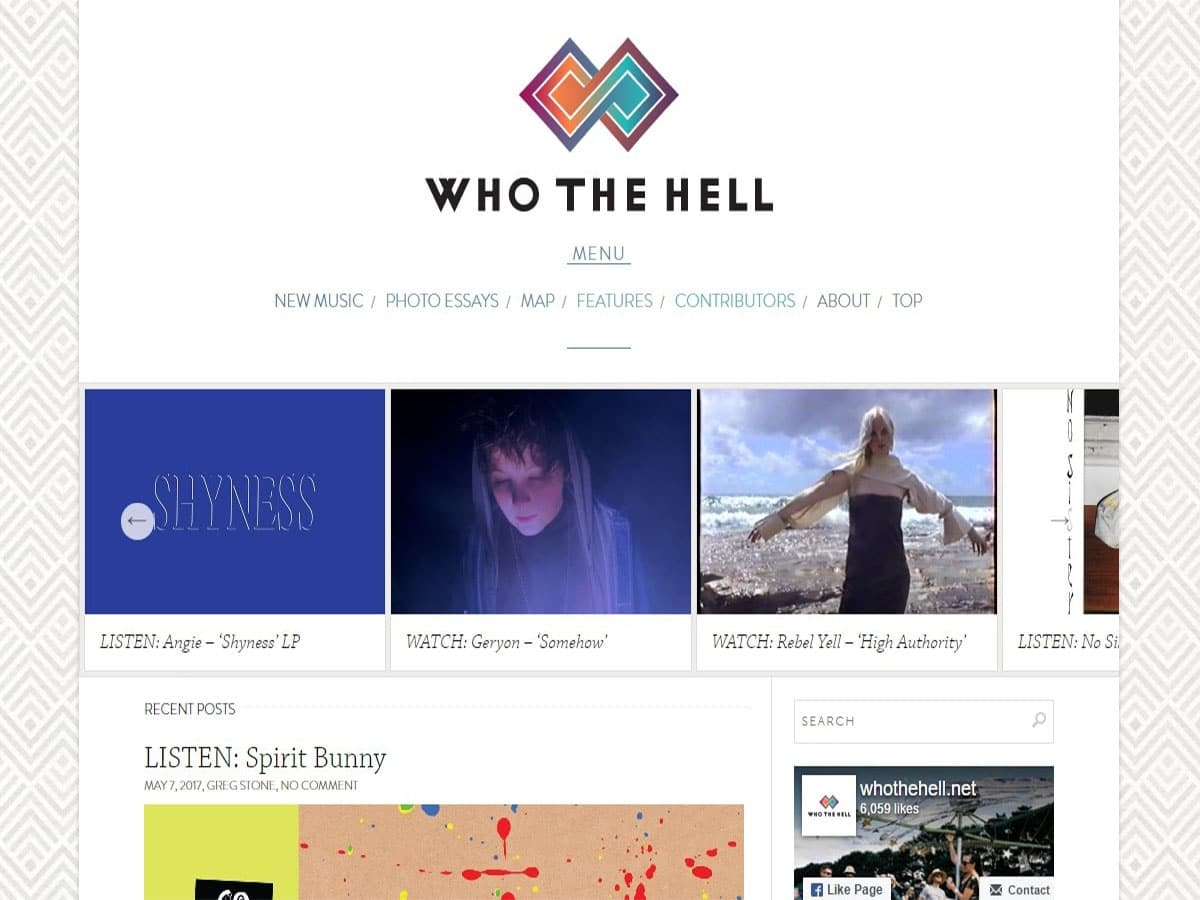 Australian music blogs who the hell