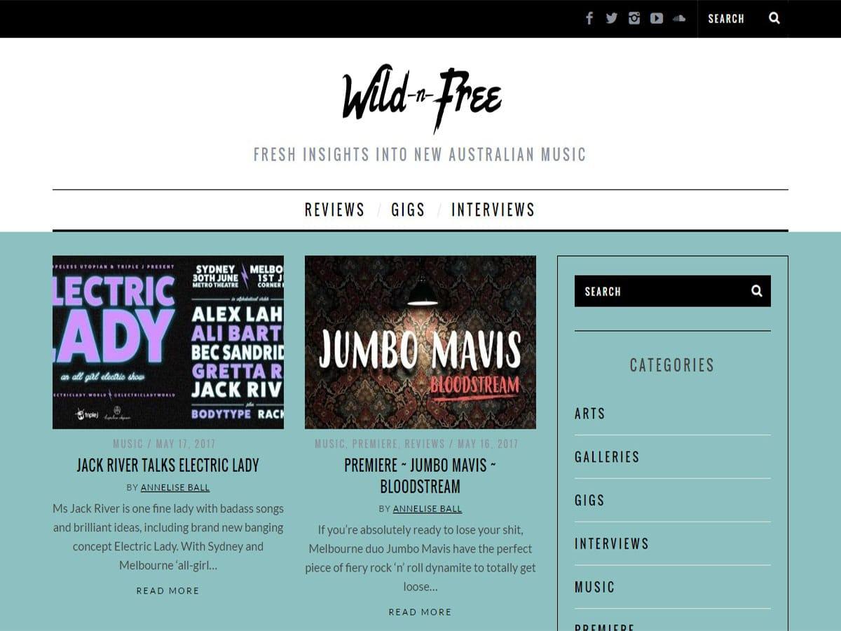 Australian music blogs wild n free