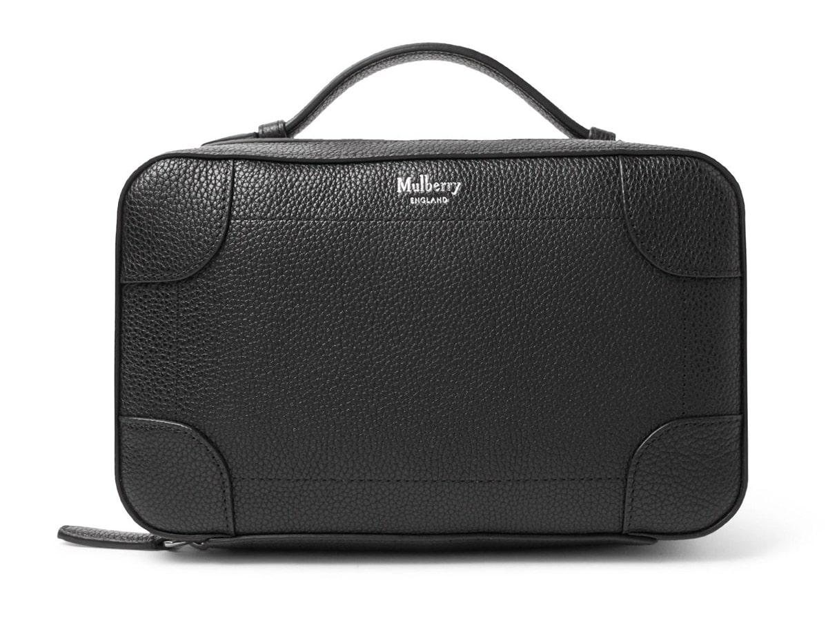 Mulberry Belgrave Pebble-Grain Leather Wash Bag