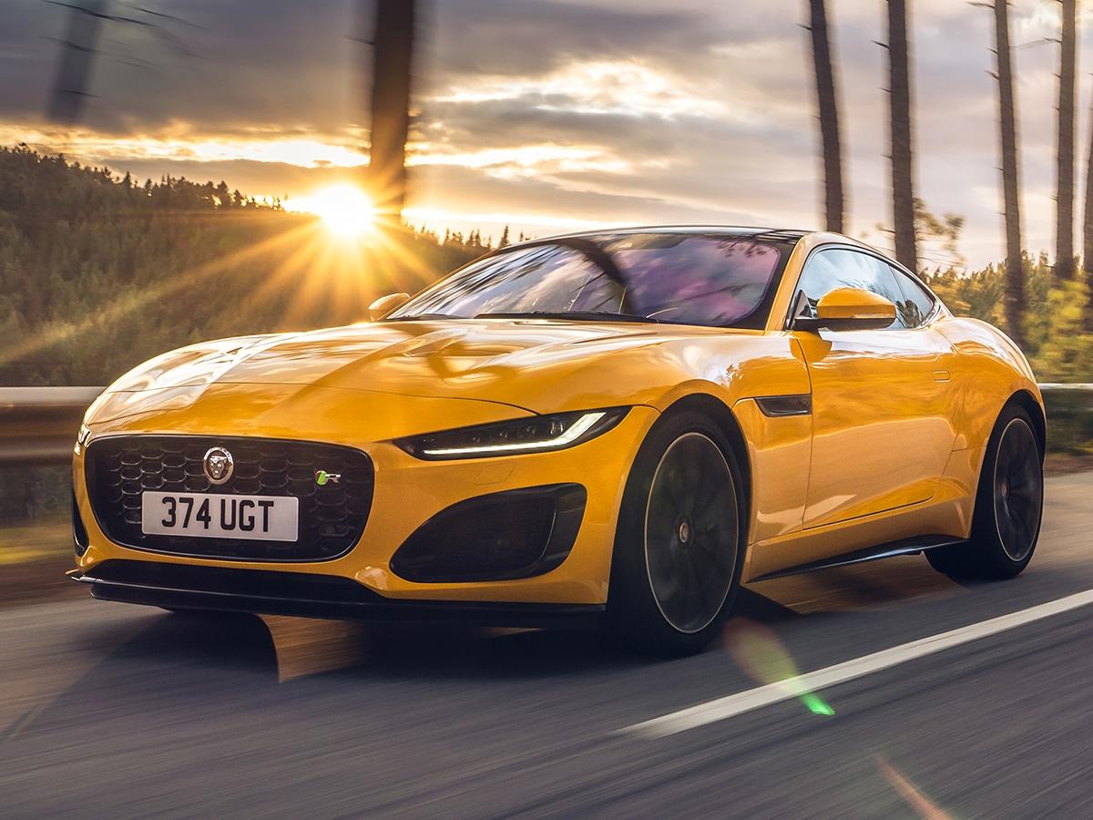 yellow jaguar f type