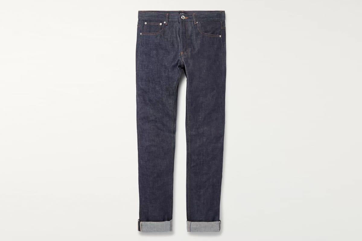 A p c petit standard slim fit dry selvedge denim jeans