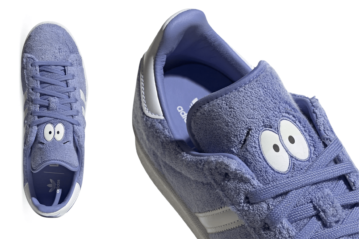 Adidas x south park campus 80s towelie eyes top down