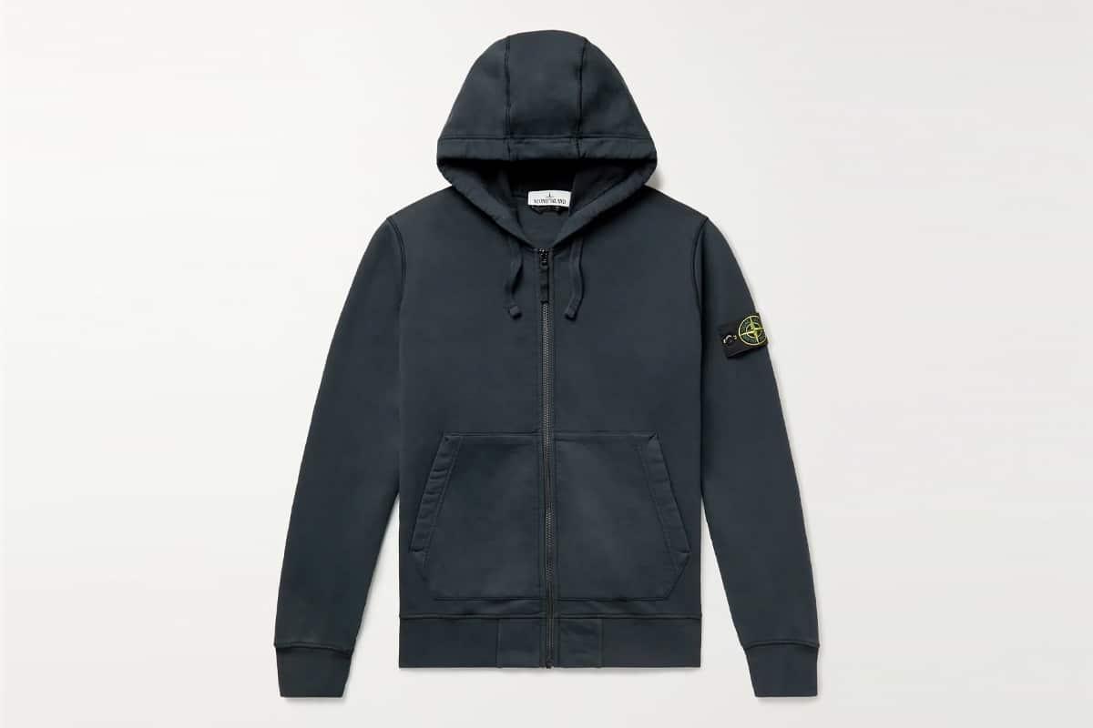 Albam tactical loopback cotton jersey half zip sweatshirt