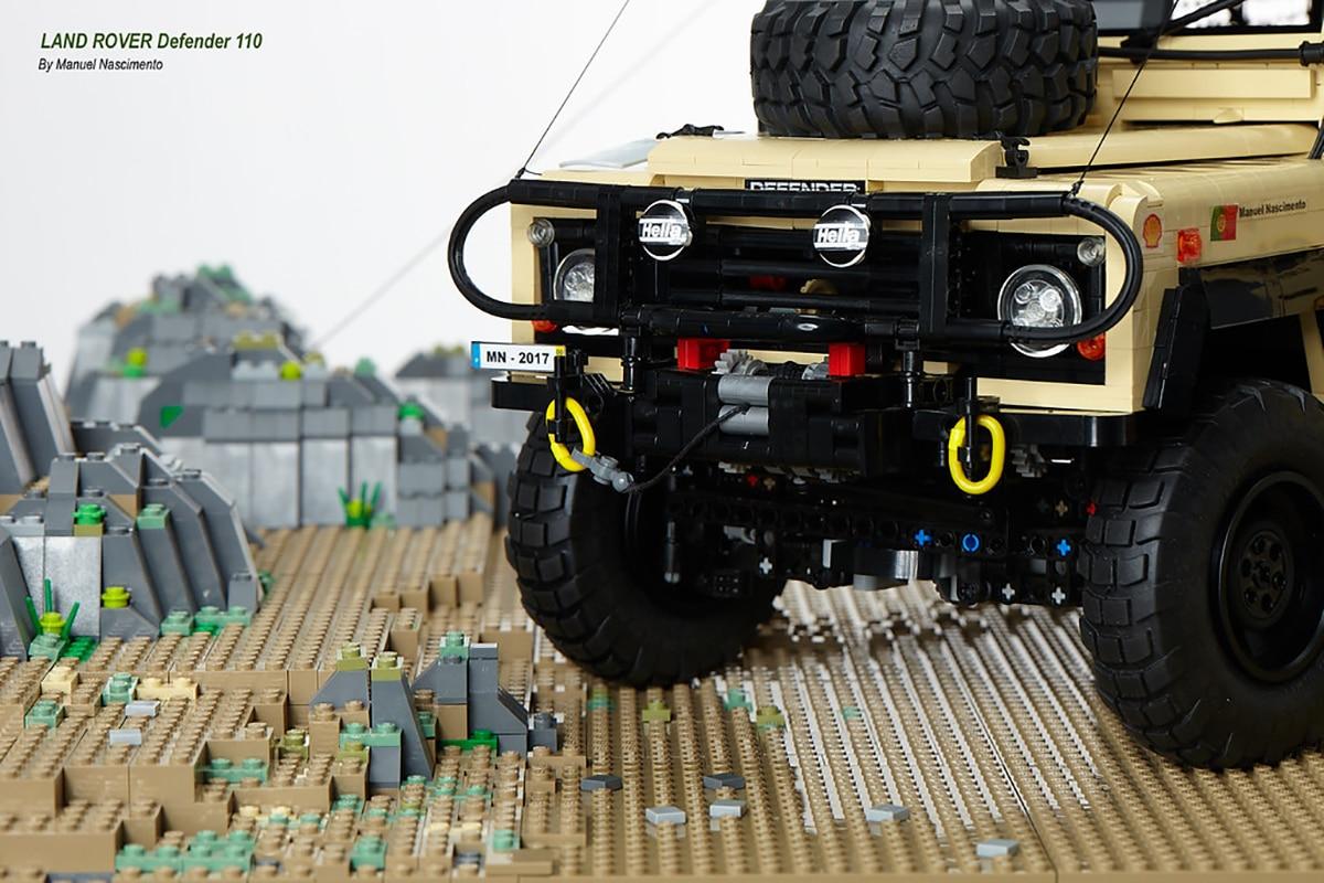 Camel x lego land rover build 2