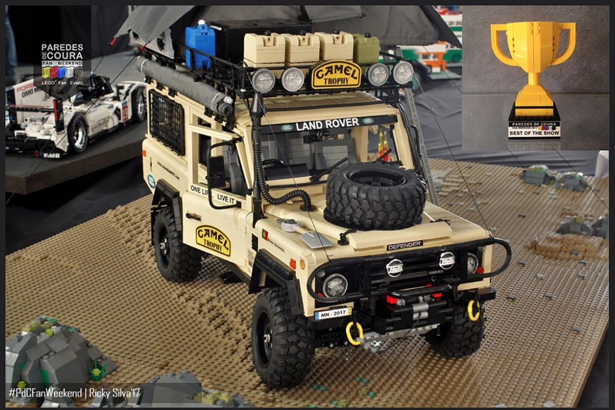 Camel x lego land rover build