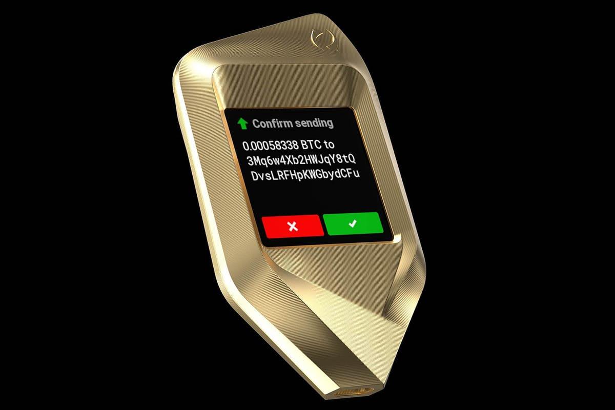 Corazon titanium crypto hardware wallet 7