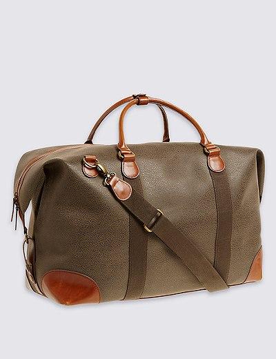 Flocked holdall bag