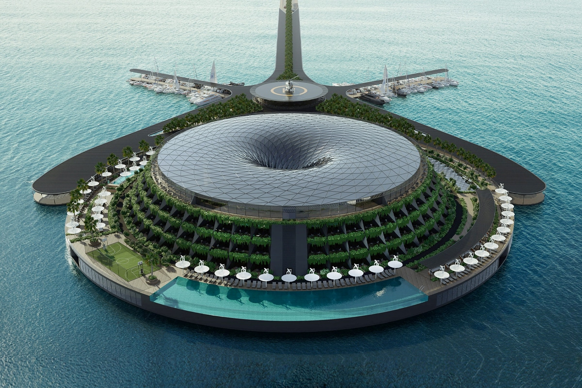 Haads floating hotel
