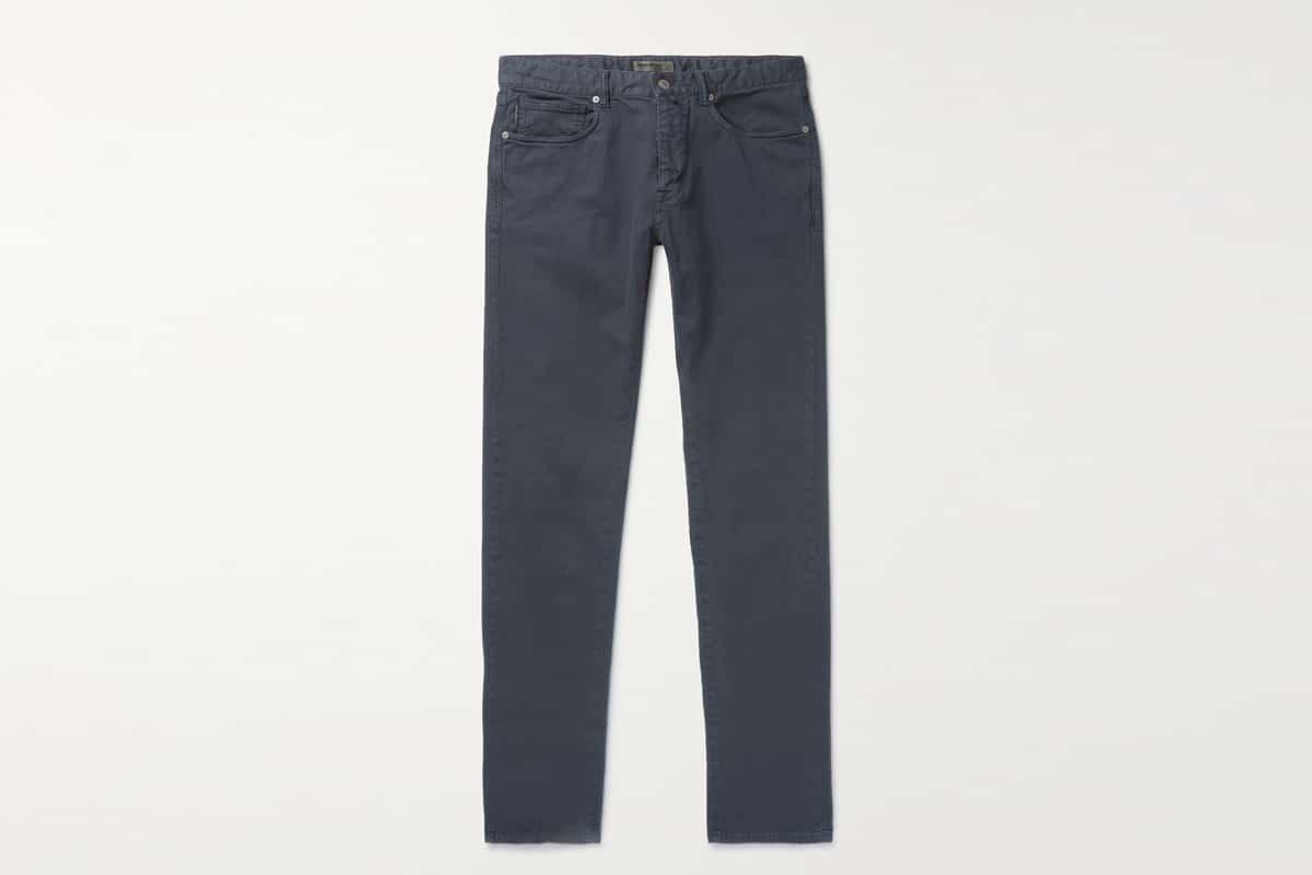 Incotex slim fit cotton blend trousers