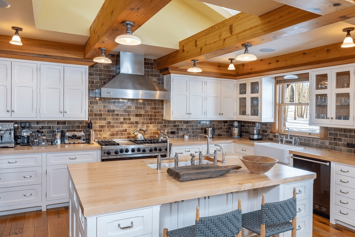 Jerry seinfelds colorado mansion kitchen