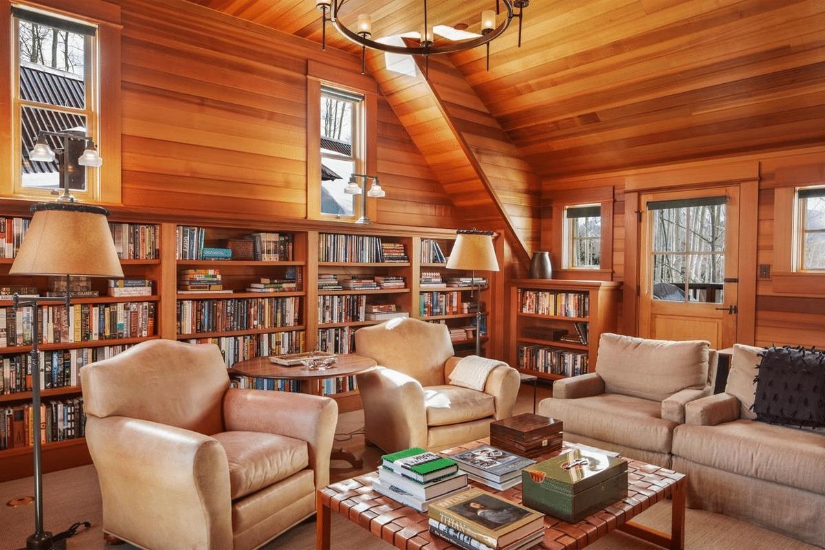 Jerry seinfelds colorado mansion living room