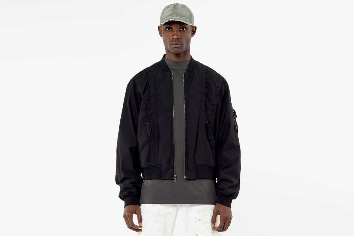 John elliot cotton poplin frame flight jacket