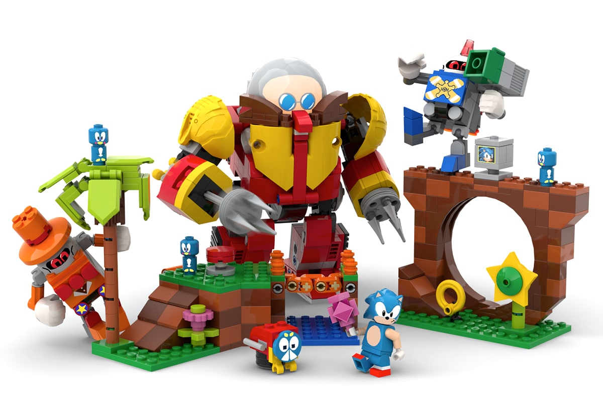 Lego 'green hill zone set from the first sonic video game 10