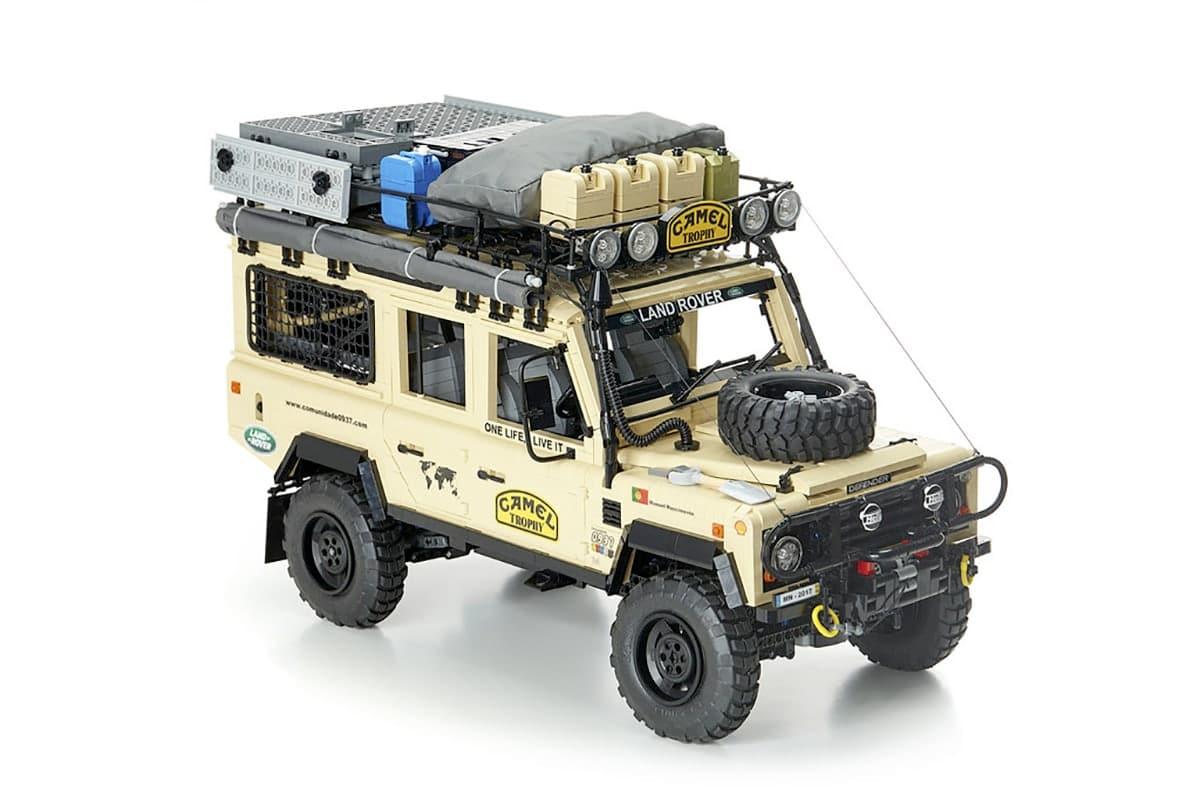 Lego camel trophy land rover defender