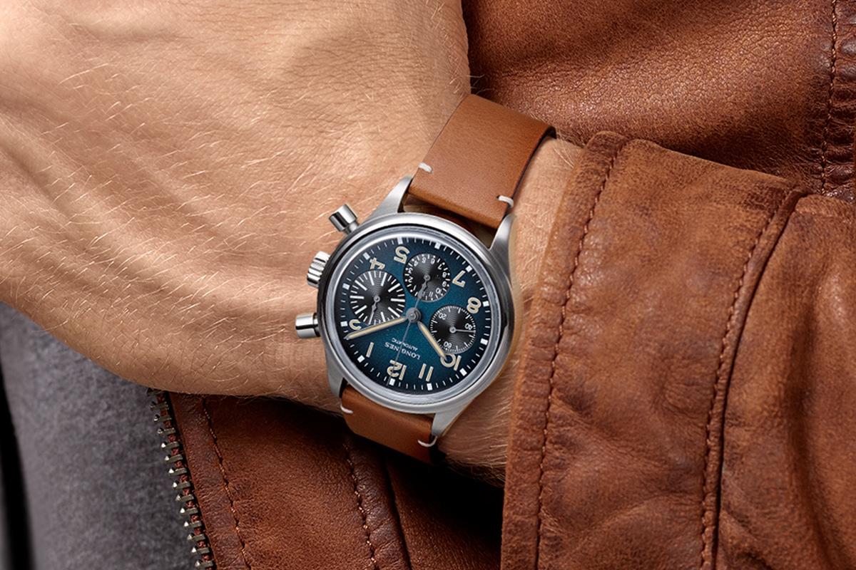 Longines aviation bigeye petrol blue dial