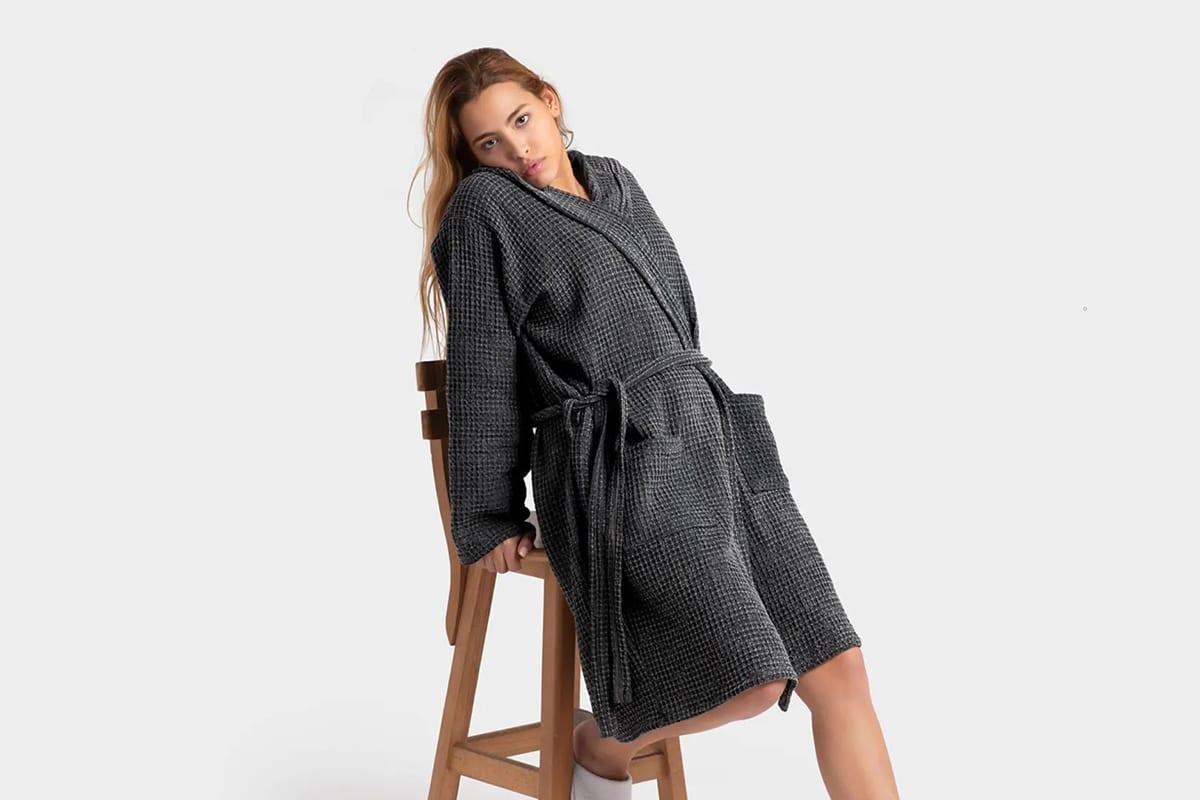 casamera waffle bathrobe