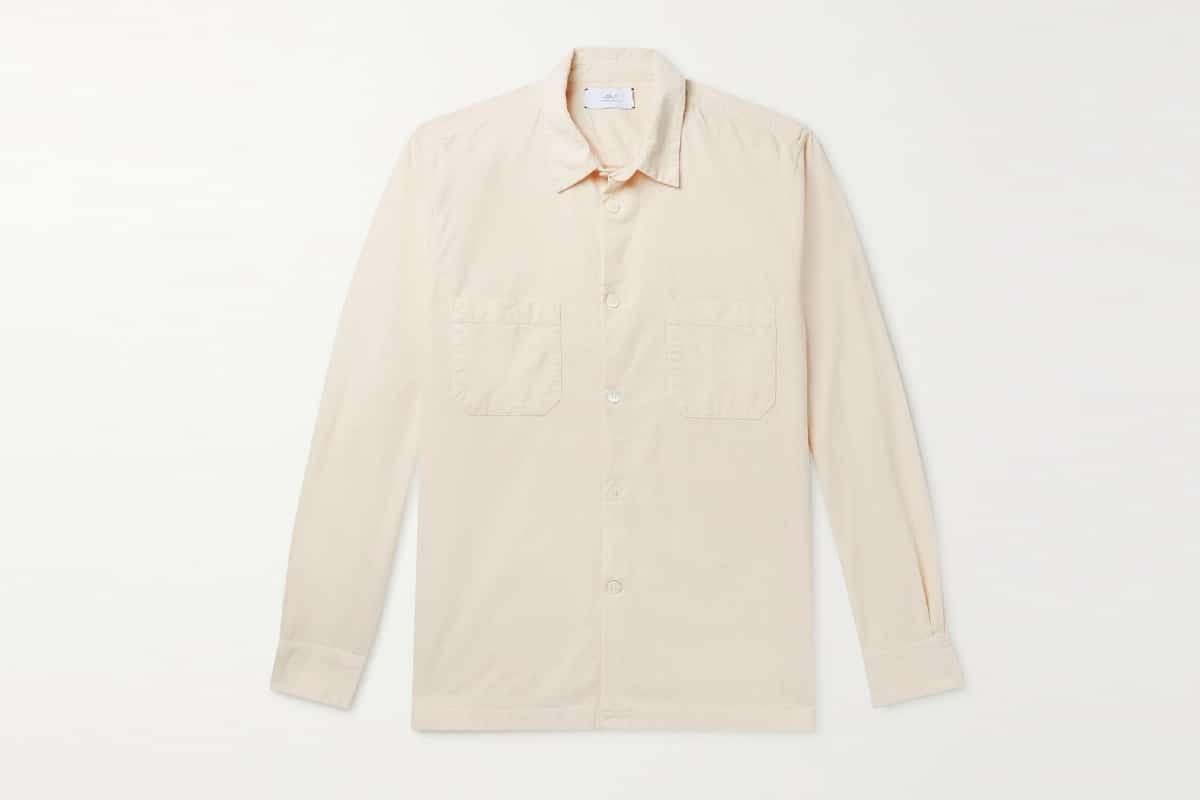 Mr p stretch cotton needlecord shirt
